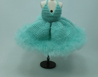 Handcrafted crochet knitting dress outfit clothes for Blythe doll # 200-53