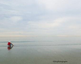 Beach Photography, Minimalist Beach, Summer Home, Beach Themed Decor, Summer Time Art, Solitude Peaceful Relaxing, Ocean Decor, Calm Seas