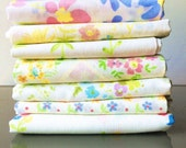 Vintage Sheet Fat Quarter Bundle - Sweet and Lovely Delicate Petite Florals - Set of 7