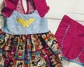 Gooseberry Lane Originals Wonder Woman Short Set