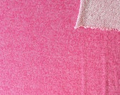 Roseberry Pink Heathered French Terry Knit Sweatshirt Fabric, 1 Yard