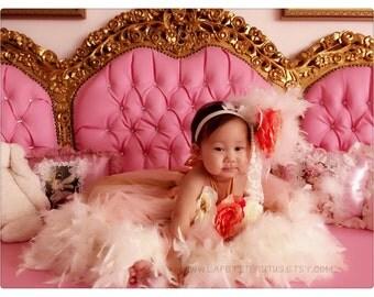 Custom feather dress, flower girl dress, girls dress, feather dress, toddler dress, feather tutu dress, tutu dress, photo prop, dress prop