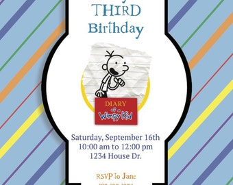 Diary of a Wimpy Kid Invitation