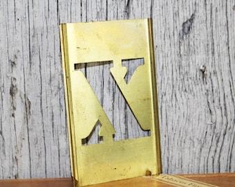 Brass Stencil, X, Letter X, Metal Stencil, Vintage Stencil