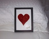 """Real Butterfly Wings Framed """" Heart""""  Collage"""