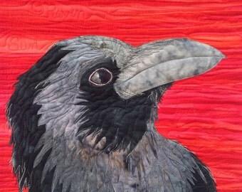 Raven : art quilt pattern tutorial