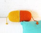 Pillow Crochet Marrakech  -  Yellow and Orange