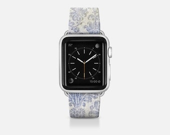 Apple watch band you can blue tapestry