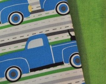 Pickups and Pooches 2 Fat Quarters Bundle for Robert Kaufman, 1/2 yard total