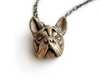 French bulldog head pendant