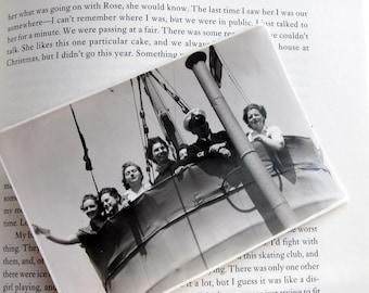 Vintage World War II Navy Snapshot/Navy Ship/Navy WomenWRENS/1940s/Ship Crows Nest