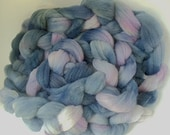 "Roving Spinning Fiber Alpaca and Babydoll Southdown Wool for Spinning or Needle Felting 3.4 Ounce Braid Combed Top Fiber  "" Twilight  Luxe """