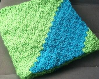 Sideways Box Stitch Afghan Crochet Pattern