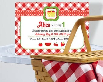picnic party invite | etsy, Einladung