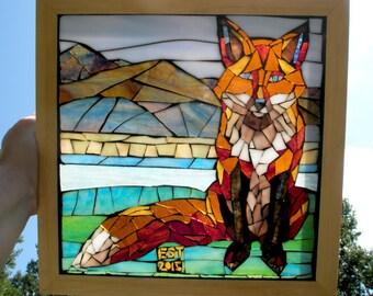 Fox Suncatcher Mosaic Custom Made to Order
