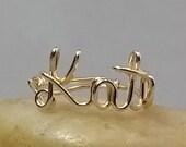 14k Gold Filled Name Ring