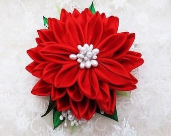Kanzashi Flower Hair Fascinator Brooch Wedding Accessories