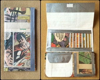 Recycled and Up-cycled Superman Comic Book and Duct Tape Wallet