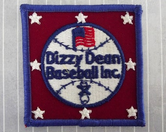 """Vintage 3.1"""" Patch Dizzy Dean Inc Patch, Youth Baseball Applique, Sports Collectible, Athletic Company"""
