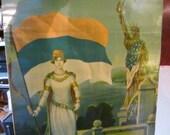 Soviet Peopaganda Poster/Original Lithograph Poster From 1919//Ukraine Propaganda Poster