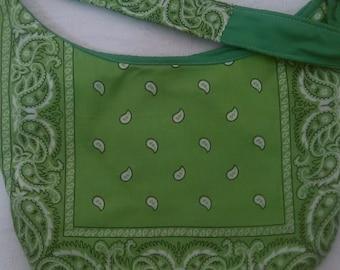 Lime Green Bandana Purse