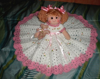 Rose Bud Soft Sculptured Bed Doll