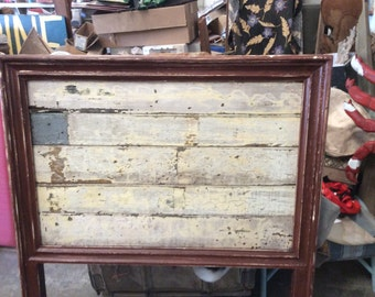Authentic vintage chippy wood / heart pine twin head board