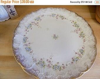 Antique Cake Serving Platter - Cottage Chic Serving - Home Decor