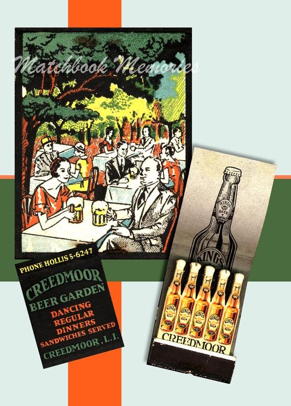 Creedmore Beer Garden Long Island Matchbook Print 1930s Kings
