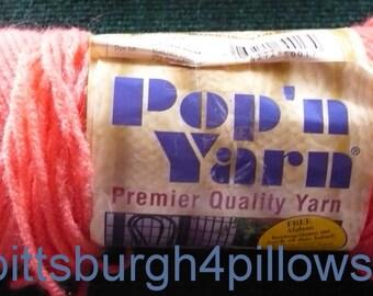1 - Pop N Yarn - 100% Acrylic - 3 Ozs. - A3-017 - Coral Reef