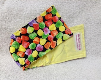 Male Doggie Belly Band Diaper Pet Dog Wrap Pants Yummy Gumdrops Custom Sizes To 30 Inches