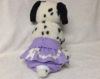 Female Dog Diaper Pet Wrap Panties Doggie Britches Pants Size XSmall To 5XLarge Lavender Poodle Skirt Pink Or Lavender