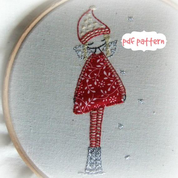winter fairy embroidery pattern pdf