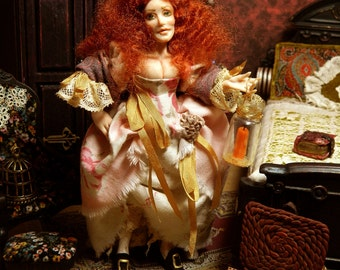 Witch, Sea Witch, Pirate, Miniature Doll, Doll House, Angelica Devilsfuge The Sea Witch of Penzance