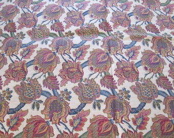 Upholstery Fabric / Vintage Textile / Tapestry