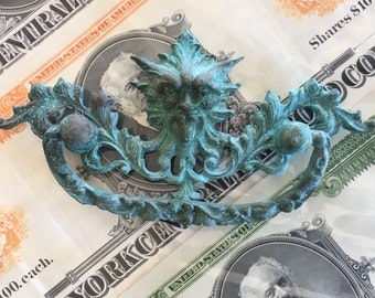 Vintage Bent Gothic Figural Blue North Wind Pull - Assemblage Supply