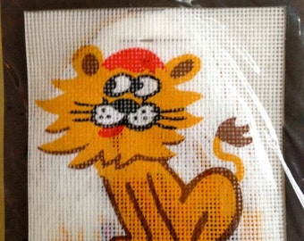 Lion Needlepoint Kit – Elegance Arts Tapestry Kit