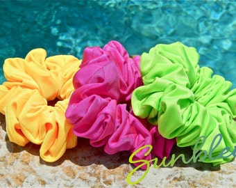 Large Spandex Scrunchies in Neon