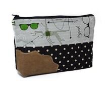 geek cosmetic bag, makeup bag, makeup organiser, bag organiser, toiletry bag, travel bag or simply a geek pencil case.