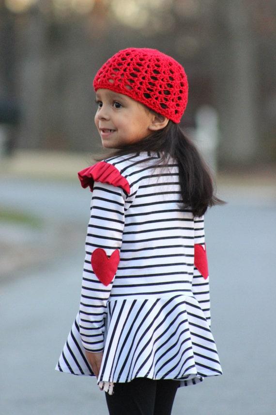 Pistachio Tee PDF Pattern sizes 12m-8, Knit Tee Pattern, T Shirt Pattern, Peplum Shirt, Girls Shirt Pattern, Boys Shirt Pattern