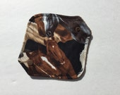 """Cloth Panty Liner All In One Cotton Fleece 6.5"""" Horses"""