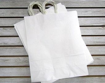 16 X 19 White Paper Bags - 20 Pcs