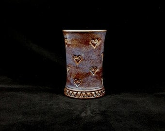 Stoneware Heart Cup