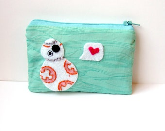 BB8 pouch / coin purse, wallet bb8 Star Wars The Force Awakens