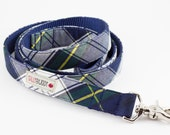 Navy Tartan Dog Leash