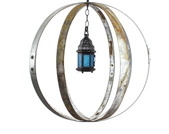 "RING ART - ""Kalabaza"" - Wine Barrel Ring Garden Art Globes - 100% recycled"