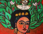 Tree of Life Frida Kahlo - 24x30 mix media on canvas