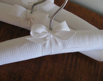 Baby Hangers, Padded Hangers, Covered Hangers, White Pique Hangers, Photo Props, Baby Shower Gifts, White Display Hangers, Baby Shower Gifts