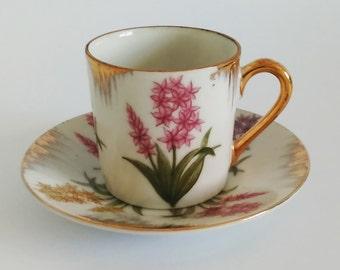 Vintage Floral Demitasse