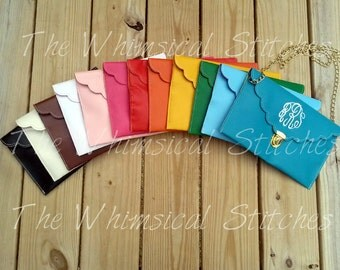 Monogrammed Clutch | Fold Over Clutch | Monogram Fold Over | Faux Leather | Gift for Her | Christmas Gift | Bridesmaid Gift